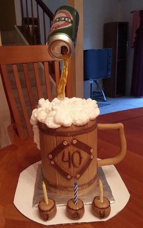 Beck S Beer Cake This Is A Large Mug With The Can Of On