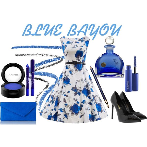 Blue Bayou at GoJoMi by goggijollimilki on Polyvore featuring Yves Saint Laurent, L.K.Bennett, MAC Cosmetics, Marc Jacobs, By Terry, Clarins and vintage