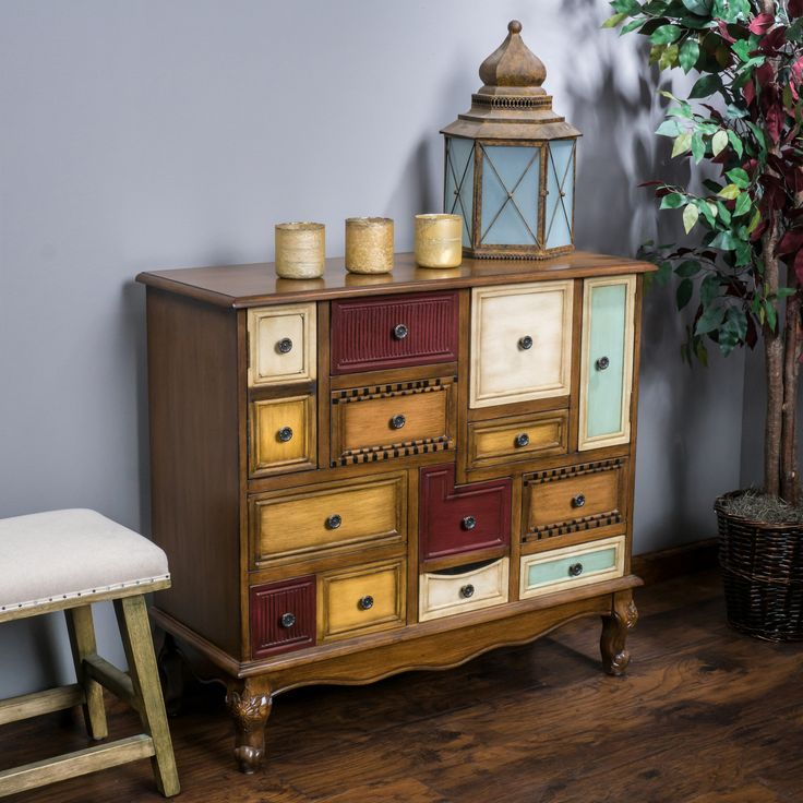 The Leo Cabinet is beautiful piece of craftsmanship that exudes all the charm of an antique piece. A shortage of storage is not an issue with this cabinet, as each drawer and cabinet door provides you