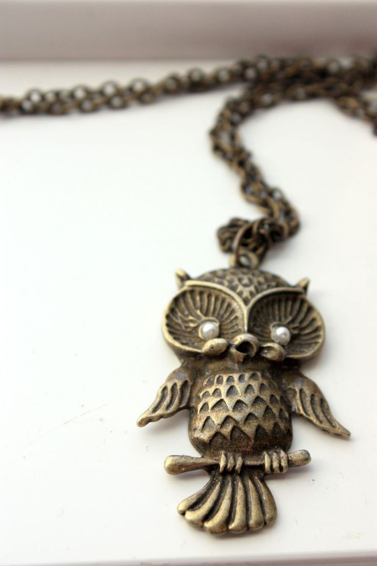 Long Owl Necklace by XxQuothTheRavenxX.deviantart.com on @deviantART