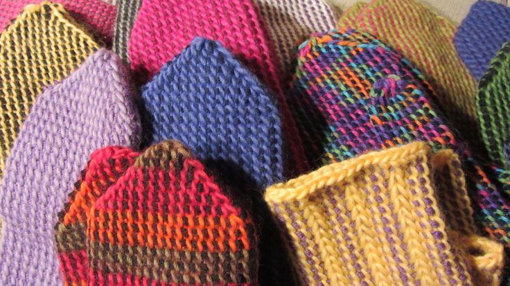Mittens with Tunisian crochet