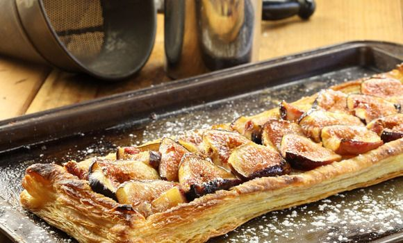 Maggie Beer's Fig & almond tart - fig season has begun in the Barossa, celebrate with this yummy tart, and its ok to cheat by using Careme Puff in place of making your own :)