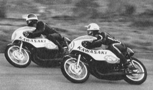 1967年写真集ー3  日本GP 350ccクラス  #17安良岡健 #20和田正宏