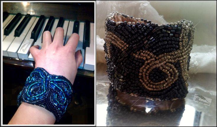 Papagena - handmade zone Bead embroidery bracelet