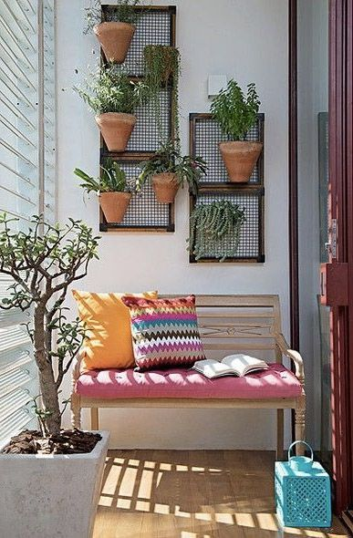 A nice balcony with a lot of plants