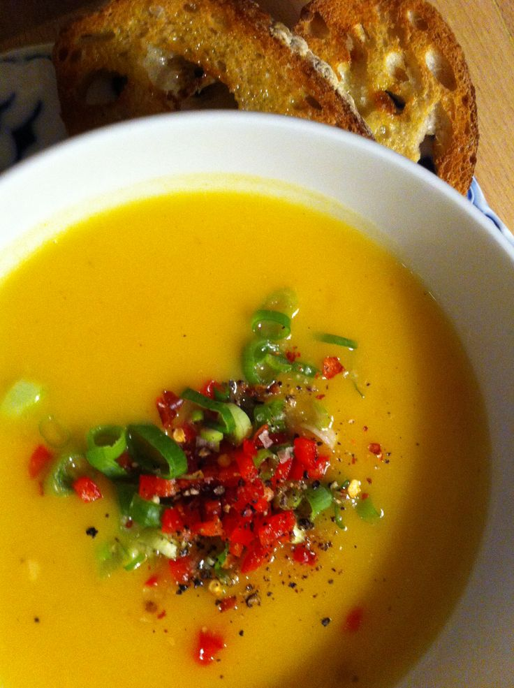 Spiced Butternut Soup. Mikala's Kitchen.