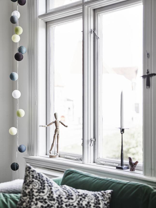 Cordão-de-Luz : bolinhas cobertas por fios de algodão