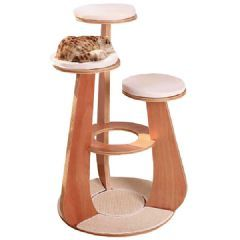 Purrshire Deluxe Wooden Cat Activity Centre on Sale | Free UK Delivery