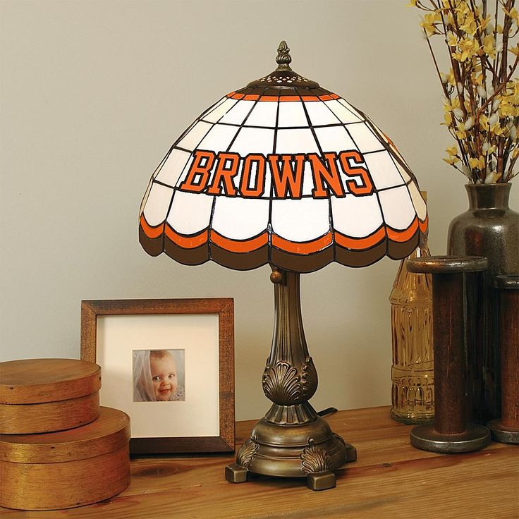 Football Fan Shop Cleveland Browns Tiffany Style Table Lamp