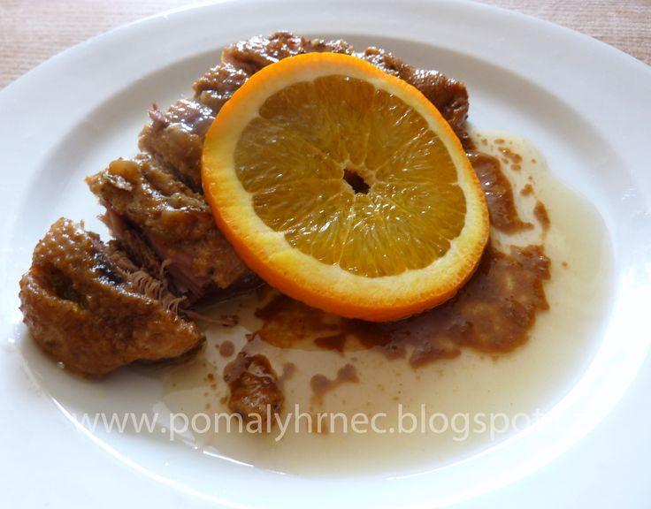 Pomalý hrnec: Kachní prsa na pomerančích v pomalém hrnci