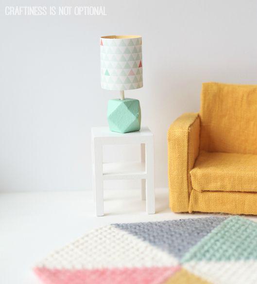 Dollhouse table lamp tutorial