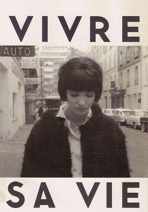 Vivre sa vie poster, Jean Luc Godard and Anna Karina