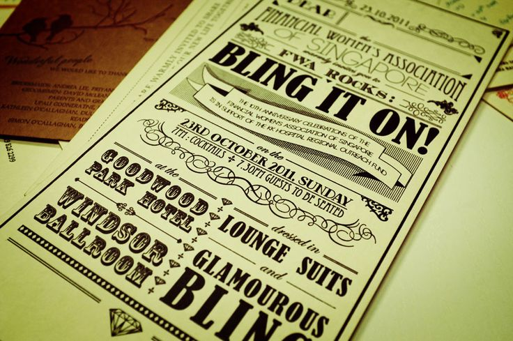 different typefaces on one poster