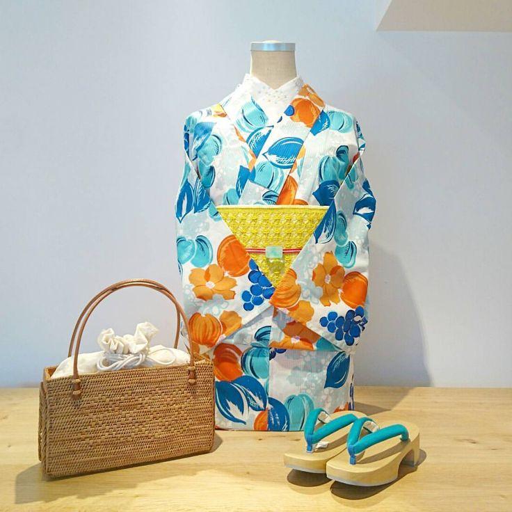 CUTE or COOL #大塚呉服店 #otsuka_gofukuten #着物 #kimono #浴衣 #yukata #京都 #kyoto #かわいい #kawaii #cute #cool #orange # #ファッション #fashion #コーディネート #coordinate #お祭り #花火大会 #祇園祭 #夏 #summer #梅雨明け しましたね!