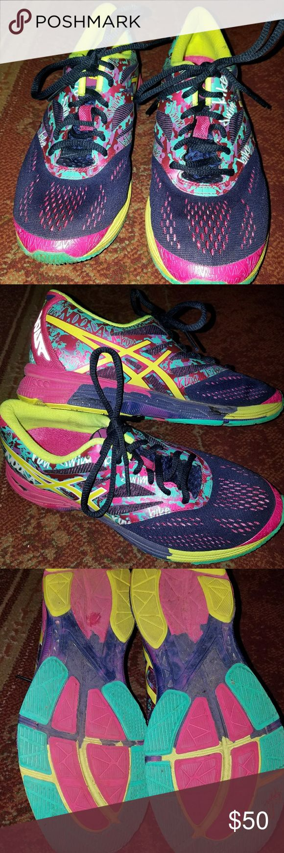 Asics womens athletic shoes Multi colored, gel noosa tri athletic shoes. They are in great shape still. Asics Shoes Athletic Shoes