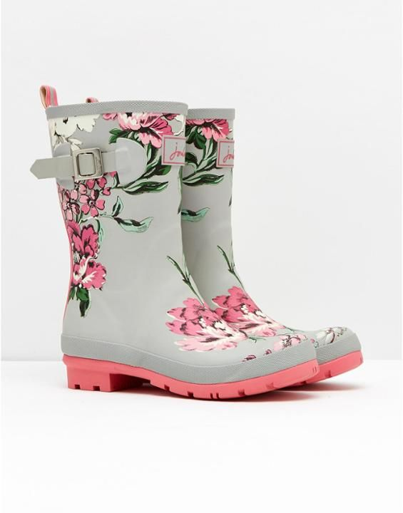 Love the bright flowers for a rainy day! - MOLLYWELLYMid-Height Printed Rain Boot