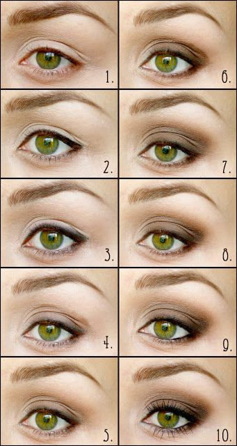 Brown smokey eyes for small eyes #eyes #makeup #pictorial More