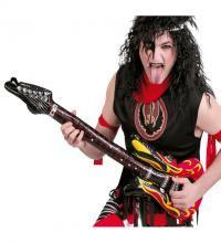 Guitarra Hinchable de 102 cm. para Carnaval. Ideal como complemento de tu disfraz de Rockero o de KISS Deamon.