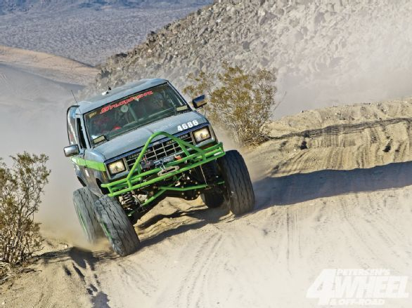 Nick Baldwin isn't afraid of much. He decided to build a 1987 Ford Bronco II with the assistance of his co-driver, Kurt Farrar, and the support of his wife, Jackie, and his parents.