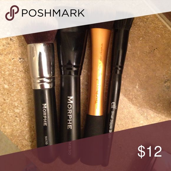 Makeup Brush Bundle All have been used. -morphe439, morphemb30, real techniques blending brush, and a small elf stippling brush. Morphe Brushes Makeup Brushes & Tools