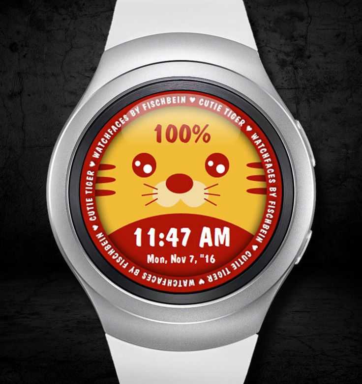 Cutie Tiger 12h – Watchfaces by Fischbein