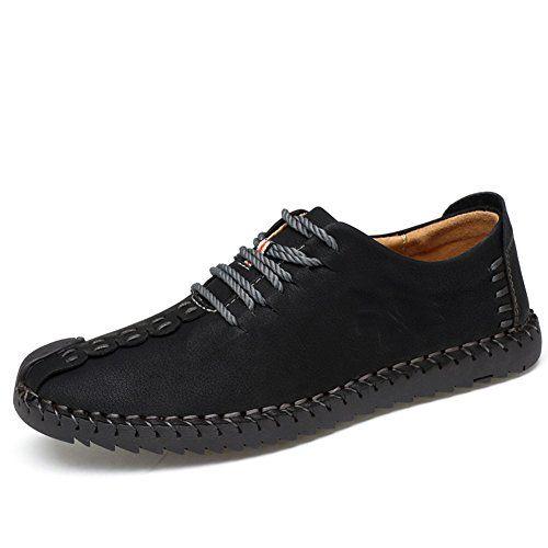 ohw?Vesty - Zapatos Planos con Cordones Hombre, Color Negro, Talla 44