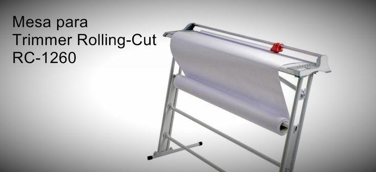Mesa para Trimmer Rolling-Cut RC-1260  Mesa resistente e que ocupa muito pouco espaço. http://www.amakpost.com/guilhotinas.html?from=pinterest
