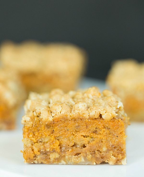 Pumpkin Pie Oatmeal Crumb Bars by Brown Eyed Baker