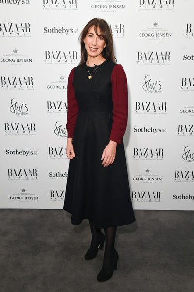 Samantha Cameron during the Bazaar At Work Summit at Sotheby's on November 16, 2017 in London, England.