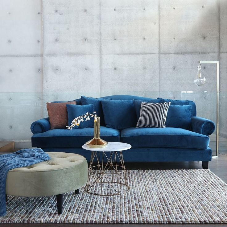 The new range from @OzDesignFurniture is here, just in time for Autumn. The classic Coco 3.5 Seater is built along traditional lines and is pictured here clad in a sumptuous ocean-blue velvet.