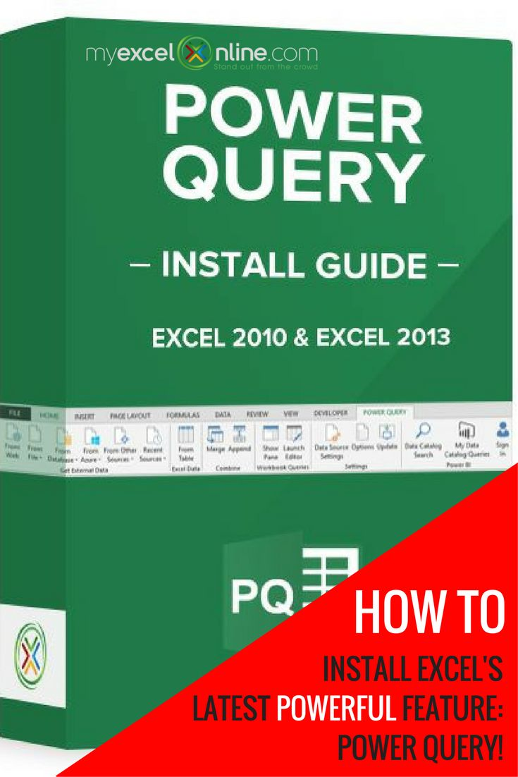 Install Excel Power Query & transform messy data in seconds! | Learn Microsoft Excel Tips + Free Excel Tutorials & Cheat Sheets |  The Most In-Depth Excel Video Courses Online at http://myexcelonline.thinkific.com/