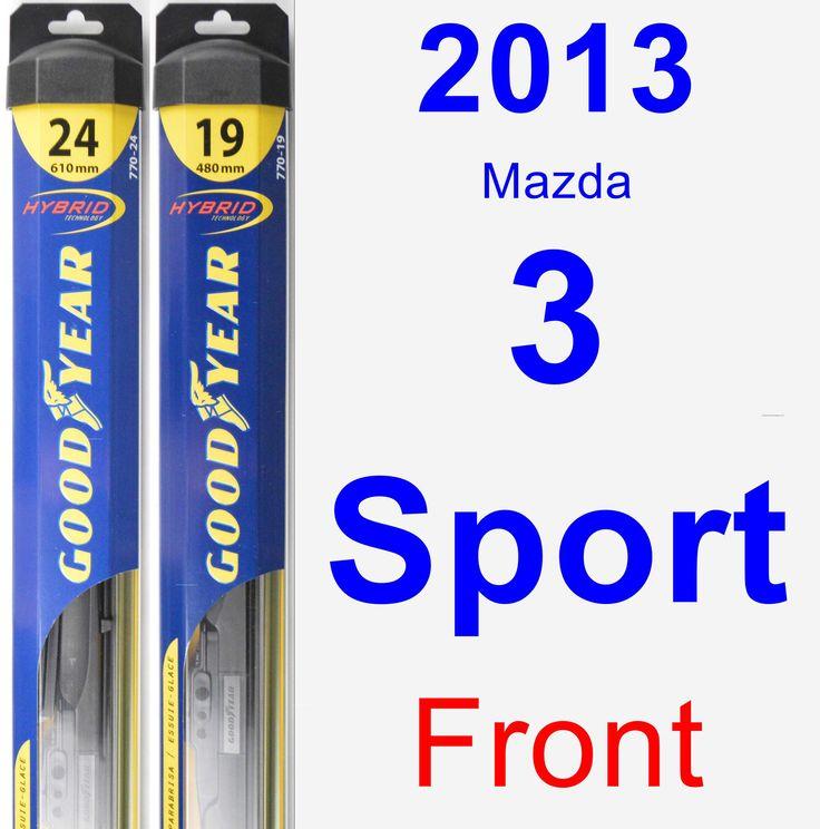 Front Wiper Blade Pack for 2013 Mazda 3 Sport - Hybrid