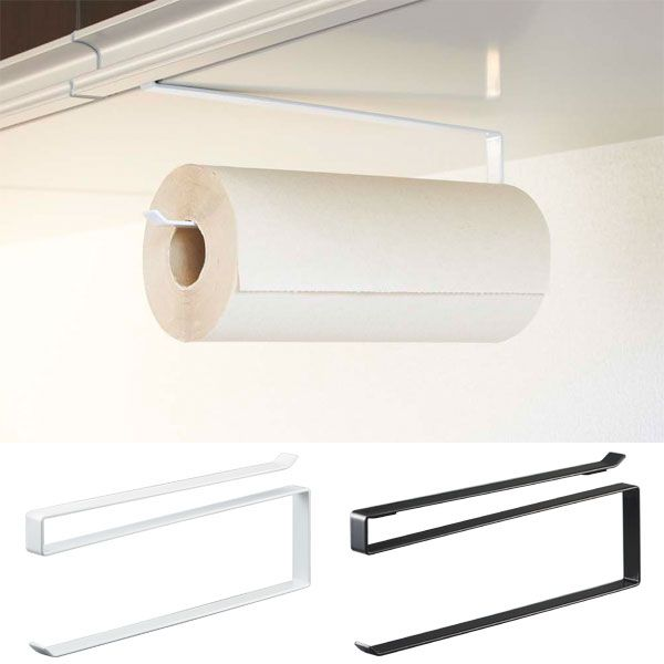 Paper towel holder Nordic hanging storage hanging kitchen kitchen storage paper holder cupboard under the simple plug type tower (Tower) white / black modern paper holder holder kitchen tabletop holder tabletop stand stylish men women