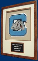 Shadow Boxes - Varsity Letter Display, Chenille Letter Frame, Award Letter Display, Letterman Patch Frame - Plaques & Such