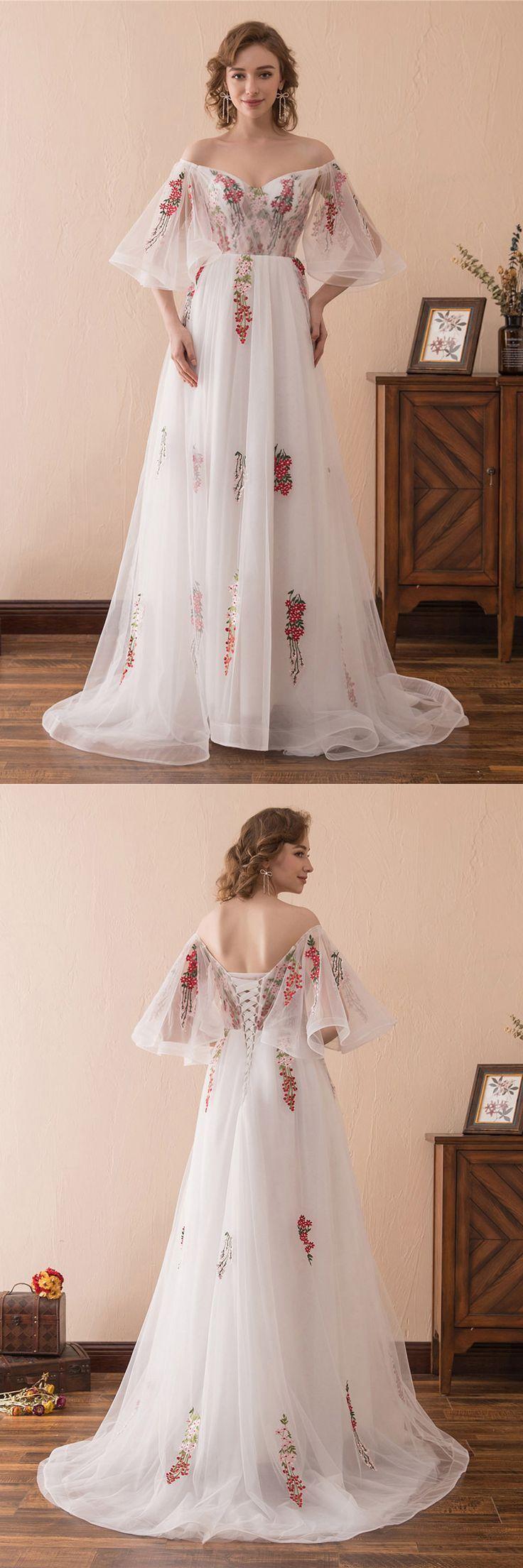 Nur $ 129, Prom Kleider Märchen aus der Schulter Puffy Prom Kleid mit Farbe