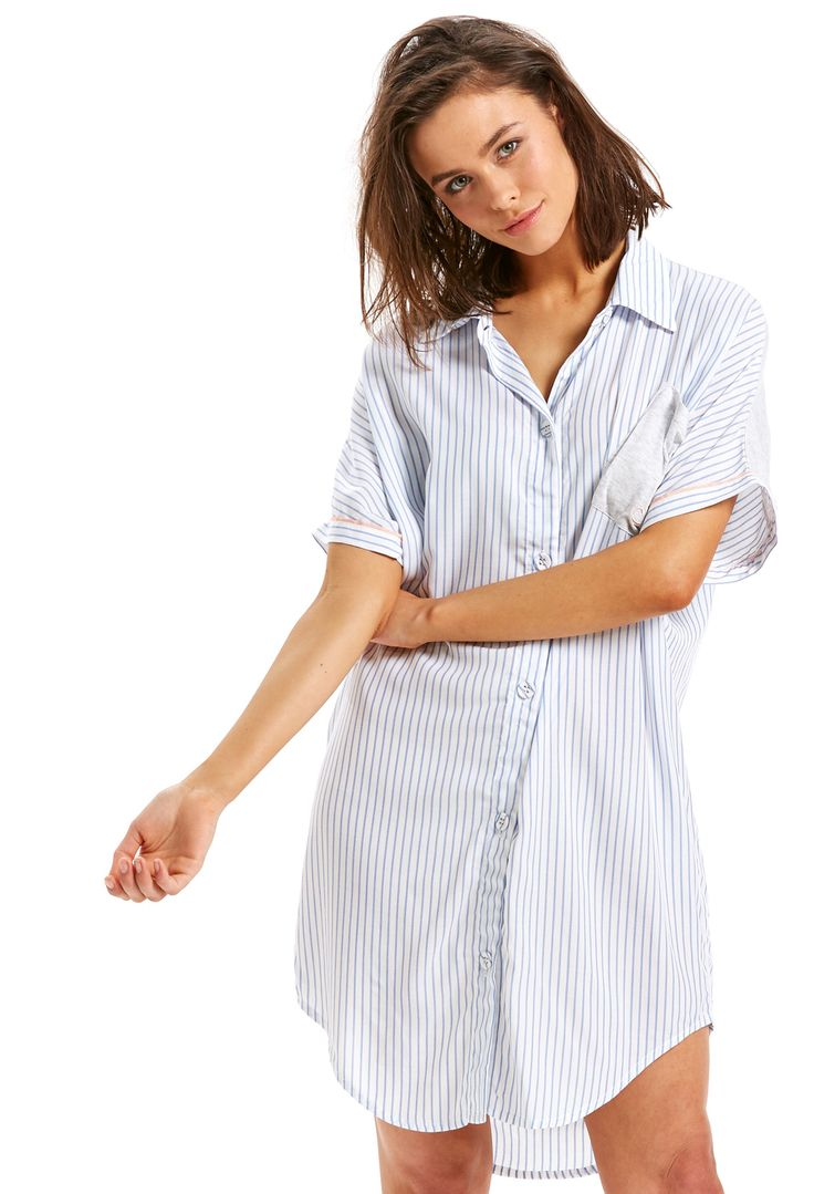 Image for Pinstripe Nightshirt from Peter Alexander