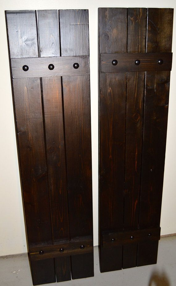 Custom Stained Cedar Board and Batten Shutters