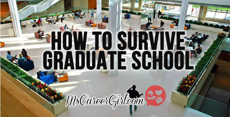 Learn how to survive grad school