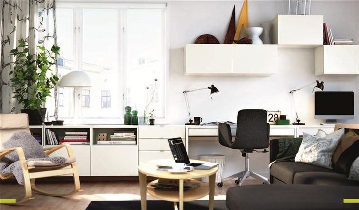 Ikea Besta desk, Love the wall filled with storage of