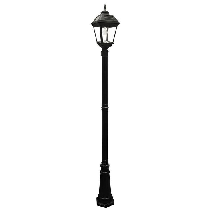 Gama Sonic Imperial Bulb Series Single Black Integrated Led Outdoor Solar Lamp Post Light With Gs Solar Led Light Bulb Gs 97b S Solar Lamp Post Outdoor Lamp Posts Lamp Post Lights