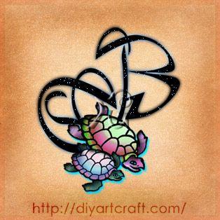 letter #B #turtles #tattoo