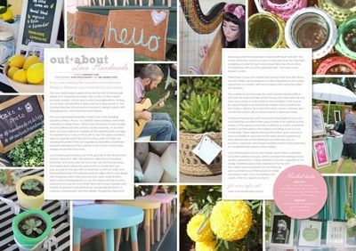 Love Handmade markets featured in Tickle the Imagination magazine #handmaderedcliffe #handmadesamford