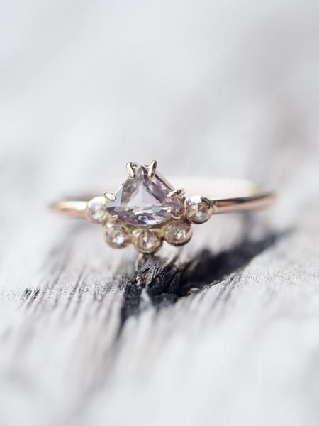 Color Change Sapphire and Diamond Crown Ring in Rose Gold    She's royalty, surrounded by lore and legend, but she hides it in her smile.