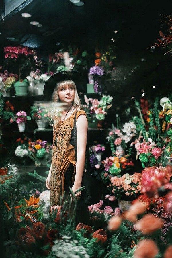 Wandering through a flower shop