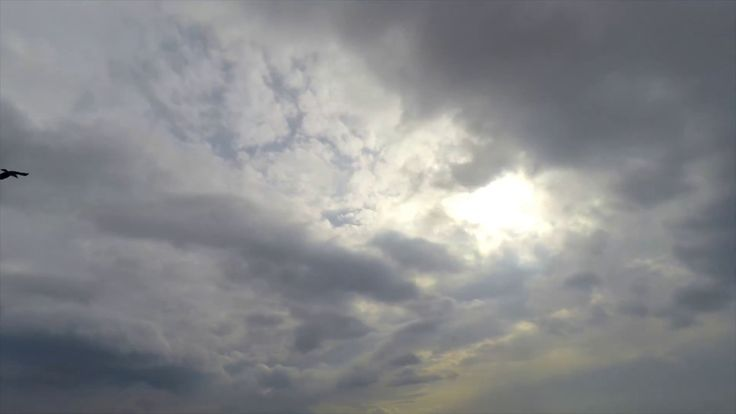 FREE HD video backgrounds – GoPro Hero4 raw footage sky with grey puffy ...