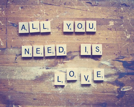 All You Need Is Love Still Life Photography, Inspirational Print, Wedding Gift, Vintage Rustic Decor - All You Need Is Love