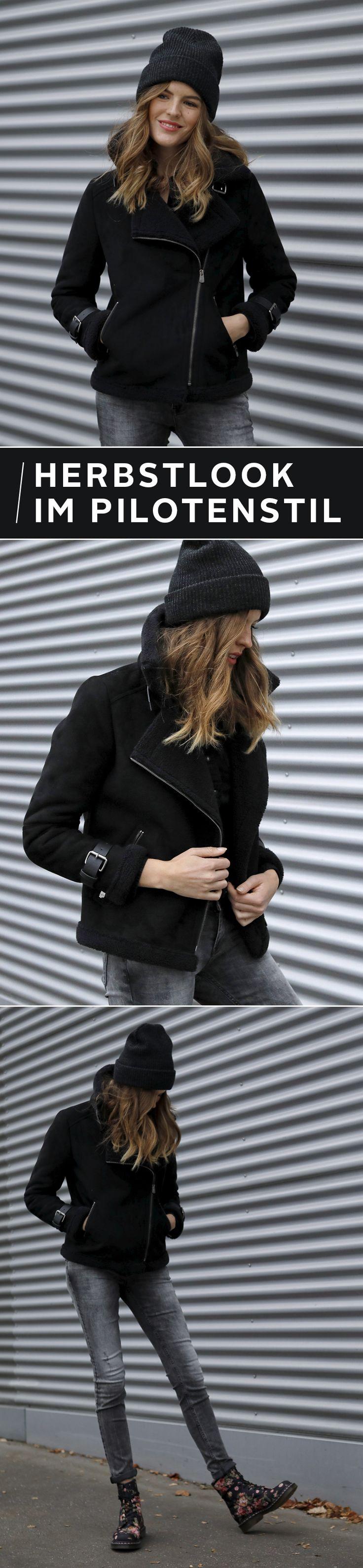 Bist du bereit, styletechnisch so richtig schön abzuheben? Diese Pilotenjacke wirst du im Winter lieben: Dicker Teddyfellkragen, coole Details und viele Kombinations-Möglichkeiten machen sie zum Must-have für die kalte Jahreszeit.