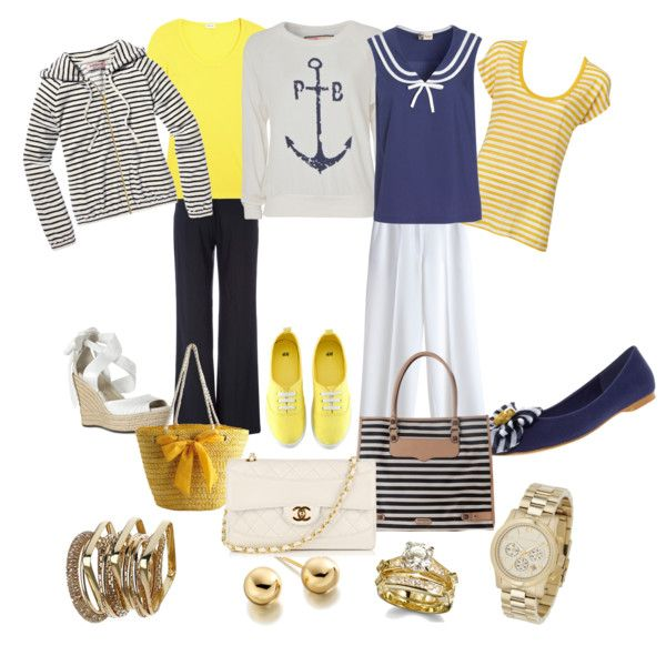 mix and match nautical look