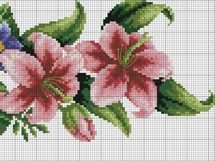 11 best ponto cruz rosas coisas*** images on Pinterest   Flores de ...