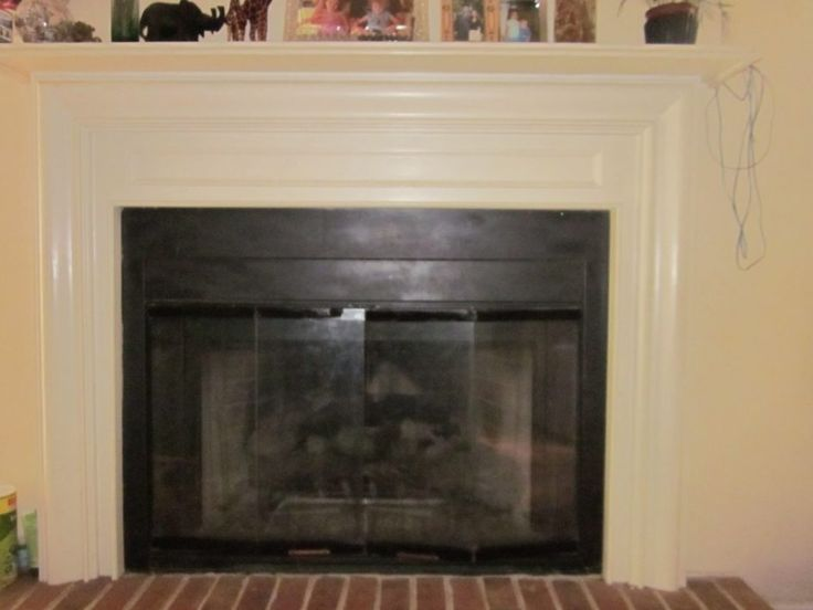 Furniture Contemporary Old Fireplace Glass Doors At Cream Wall Fireplace Under Fireplace Accessories Stylish and Durable Glass Fireplace Doors